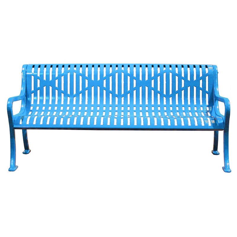 6 39 Diamond Metal Bench With Back Childforms
